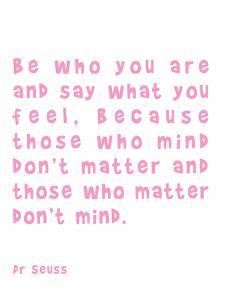 Dr Seuss Quote Pink by Indigo Sage Design