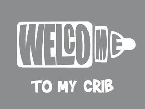 Welcome Crib Grey by Indigo Sage Design