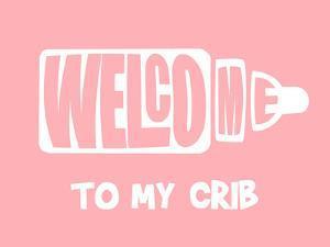Welcome Crib Pink by Indigo Sage Design
