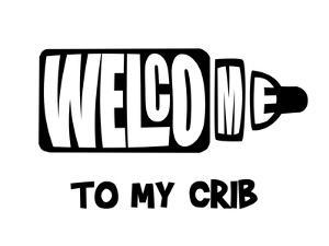 Welcome Crib White by Indigo Sage Design
