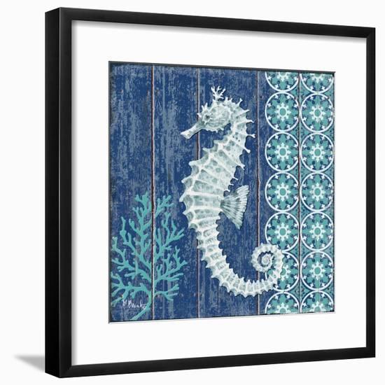 Indigo Sea VI-Paul Brent-Framed Art Print