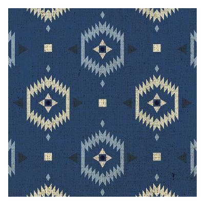 Indigo Squares Droplets-Melody Hogan-Art Print