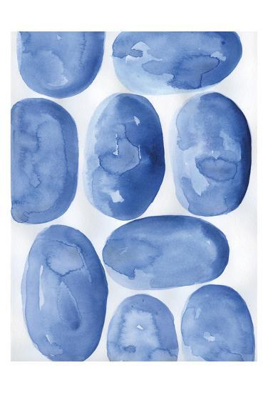 Indigo Stones-Pam Varacek-Art Print