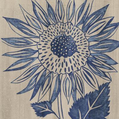 Indigo Sunflower-Chariklia Zarris-Art Print
