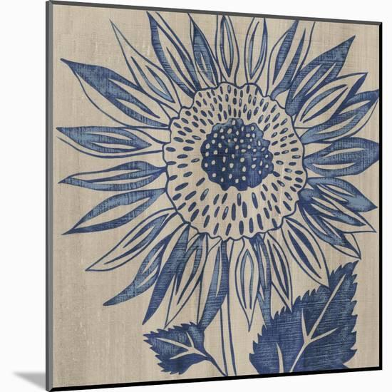 Indigo Sunflower-Chariklia Zarris-Mounted Art Print