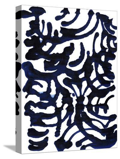 Indigo Swirls I-Jodi Fuchs-Stretched Canvas Print