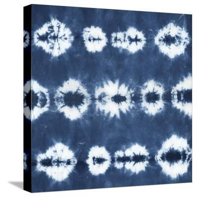 Indigo Tiles III-Chariklia Zarris-Stretched Canvas Print