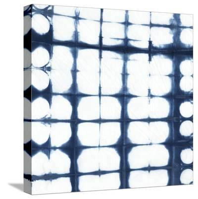 Indigo Tiles IX-Chariklia Zarris-Stretched Canvas Print