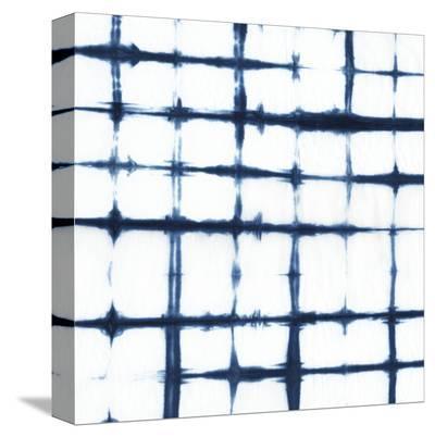 Indigo Tiles VII-Chariklia Zarris-Stretched Canvas Print