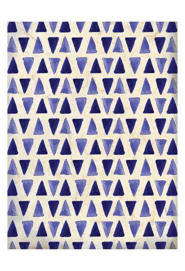 Indigo Triangles-Kimberly Allen-Art Print