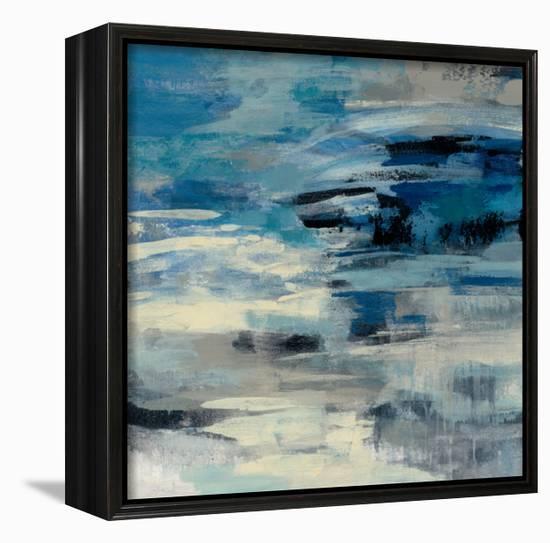 Indigo Wave-Silvia Vassileva-Framed Canvas Print