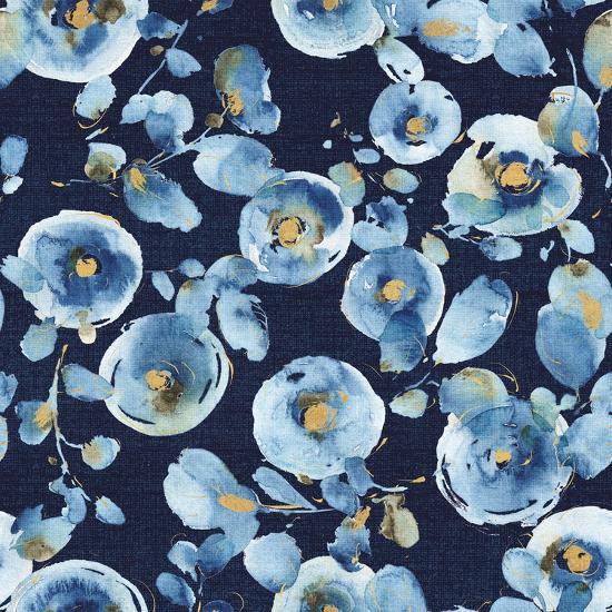 Indigold Flower Toss Indigo-Lisa Audit-Art Print