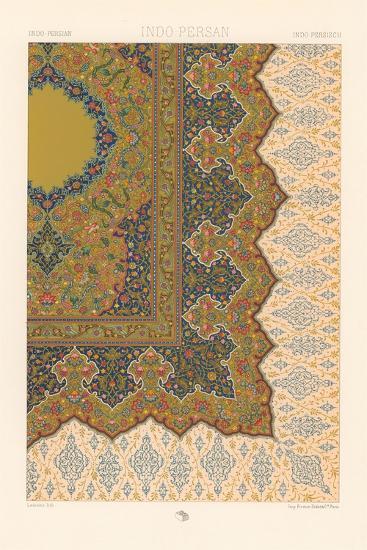 Indo-Persian Rug Pattern--Art Print