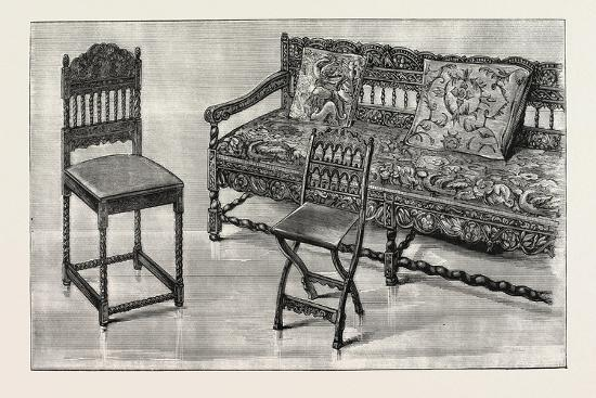 Indo-Portuguese Furniture, Imported, Charles II., UK--Giclee Print