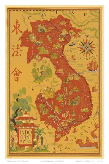 Indochine Francaise French Indochina Vietnam Cambodia