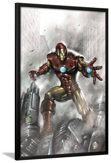 Indomitable Iron Man No.1 Cover: Iron Man-Lucio Parrillo-Lamina Framed Poster