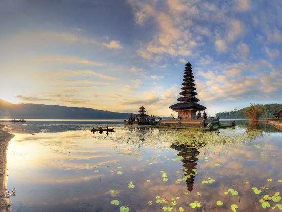 Indonesia, Bali, Bedugul, Pura Ulun Danau Bratan Temple on Lake Bratan-Michele Falzone-Photographic Print