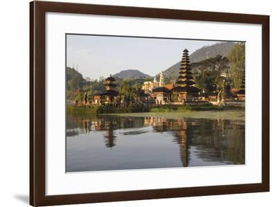Indonesia, Bali. Water Temple Complex, Ulun Danu Temple in Lake Bratan-Emily Wilson-Framed Photographic Print