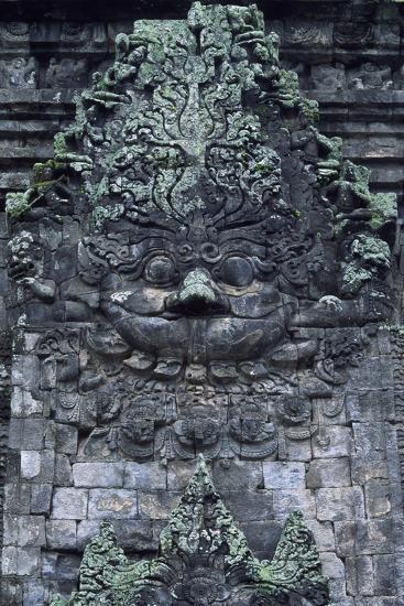 Indonesia, Java, Prambanan, Relief Showing Head of Kala, Near South Gate of Candi Kalasan Temple--Photographic Print