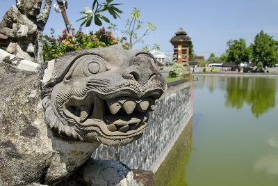 Indonesia, Mayura Water Palace. Statue of Mythical Creature-Cindy Miller Hopkins-Photographic Print