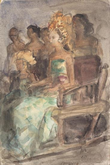 Indonesian Princess, 1890-Isaac Isra?ls-Giclee Print