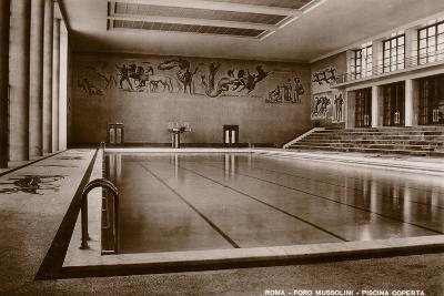 Indoor Swimming Pool, Foro Mussolini, Rome--Photographic Print