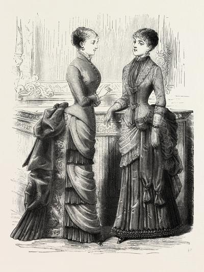 Indoor Toilettes, Fashion, 1882--Giclee Print