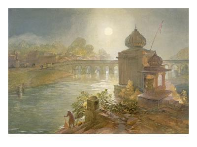 Indore, from 'India Ancient and Modern', 1867 (Colour Litho)-William 'Crimea' Simpson-Giclee Print