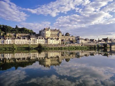 Indre-Et-Loire, Amboise, Castle and Town on the Loire River-Marcel Malherbe-Photographic Print