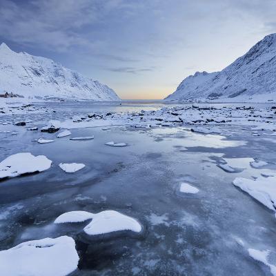 Indre Skjelfjorden, Flakstadoya (Island), Lofoten, 'Nordland' (County), Norway-Rainer Mirau-Photographic Print