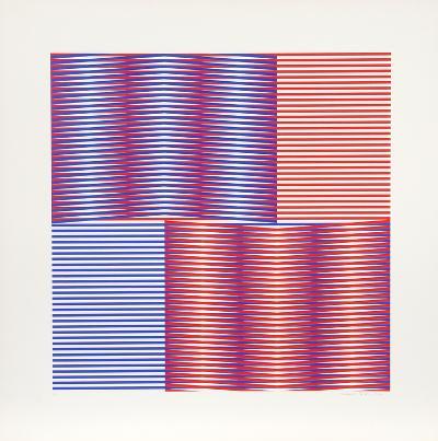 Induction Chromatique 1-Carlos Cruz-Diez-Limited Edition