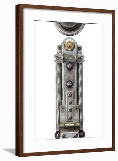 Industrial Metal Alphabet Letter I-donatas1205-Framed Art Print