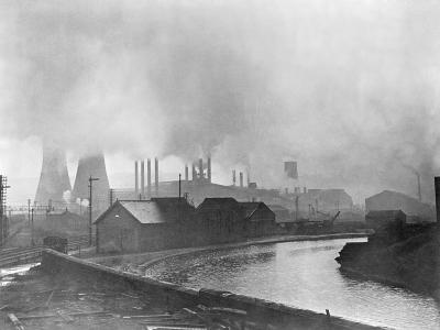 Industrial Smog Polluting Sheffield--Photographic Print