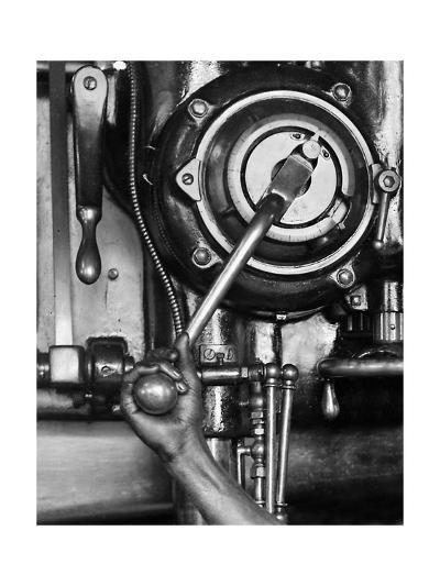 Industrial Worker with a Drill Press in Pennsylvania, Ca. 1912--Giclee Print