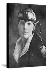 Amelia Earhart, US Aviation Pioneer by Industry and Business Library Science