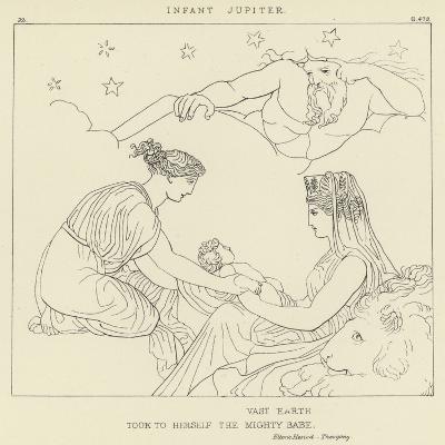 Infant Jupiter-John Flaxman-Giclee Print