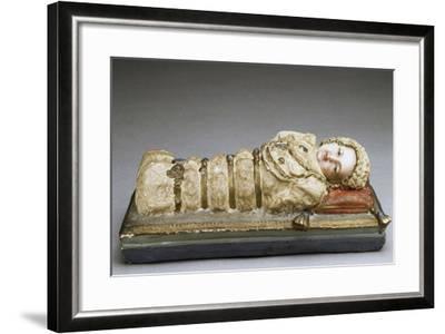 Infant Mary, Plaster Figurine, Italy--Framed Giclee Print