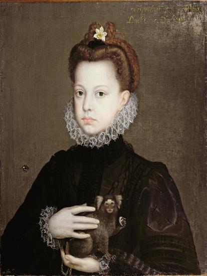 Infanta Isabella Clara Eugenia, Daughter of Philip II of Spain-Alonso Sanchez Coello-Premium Giclee Print