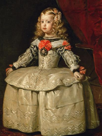 Infanta Margarita Teresa in White Garb-Diego Velazquez-Giclee Print