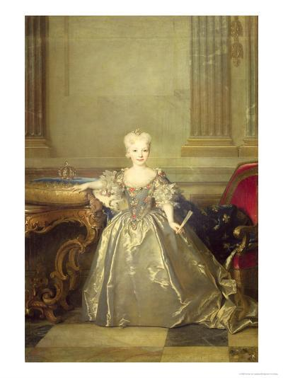 Infanta Maria Anna Victoria de Bourbon, 1724-Nicolas de Largilliere-Giclee Print