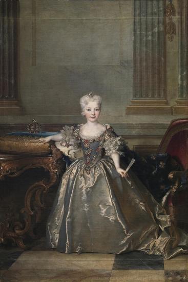 Infanta Mariana Victoria of Spain, 1724-Nicolas de Largillière-Giclee Print