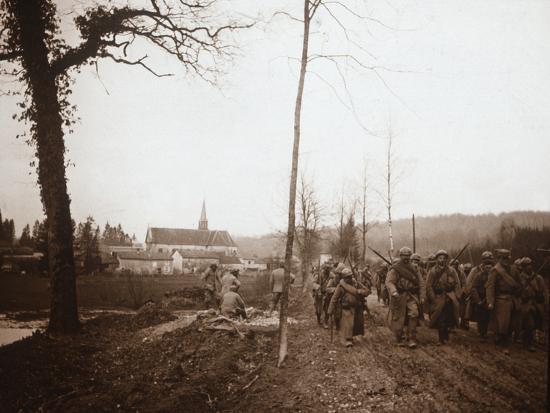 Infantry, Genicourt, northern France, c1914-c1918-Unknown-Photographic Print