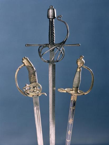 Infantry Officer's Sword, 1796, Swept-Hilt Rapier, c.1600, Prussian Officer's Sword, 1878--Giclee Print