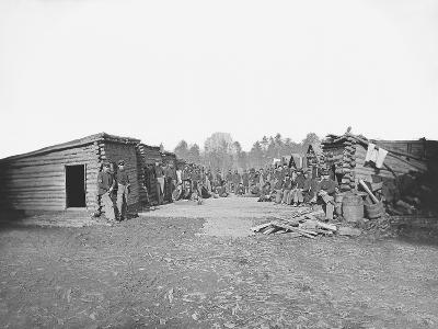Infantry Winter Quarters During the American Civil War-Stocktrek Images-Photographic Print