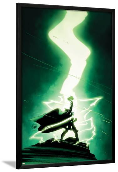 Infinity #4 Cover: Thor-Adam Kubert-Lamina Framed Poster