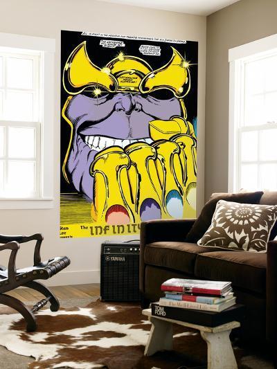 Infinity Gauntlet No.2 Headshot: Thanos-George Perez-Wall Mural