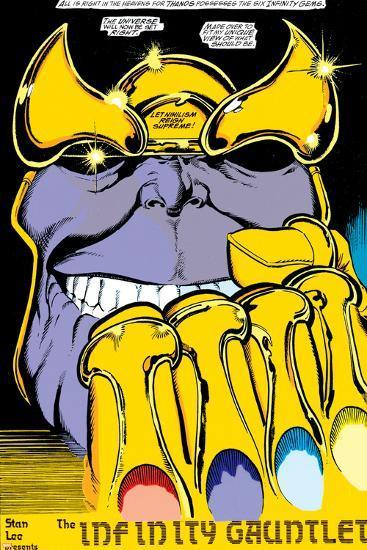 Infinity Gauntlet No.2 Headshot: Thanos-George Perez-Poster