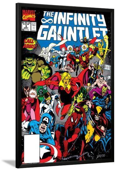 Infinity Gauntlet No.3 Cover: Adam Warlock-George Perez-Lamina Framed Poster