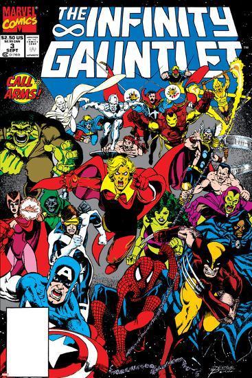 Infinity Gauntlet No.3 Cover: Adam Warlock-George Perez-Art Print