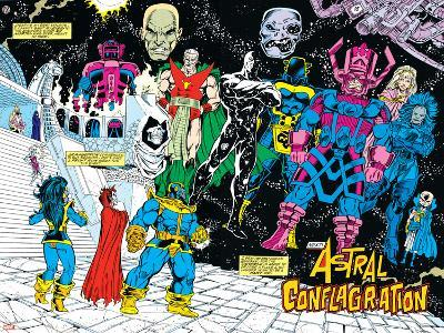 Infinity Gauntlet No.4 Group: Thanos-George Perez-Art Print